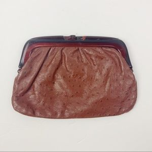 Vintage Italian Leather Clutch